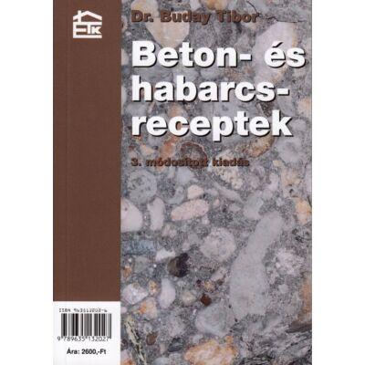 Beton- és habarcsreceptek 3. módosított kiadás